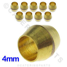 PACK OF 10 x 4mm BRASS OLIVES FOR COPPER TUBING PIPEWORK / PILOT TUBING ETC..