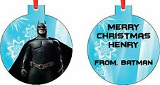 Personalized Batman Ornament ( Add Any Message You Want)