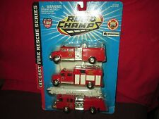 1998 vintage road champs 3 fire tucks 4dr IH 1/64 Diecast RARE hard to find