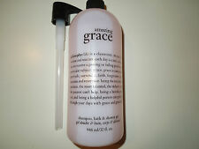 Philosophy AMAZING GRACE Shampoo, Bath, & Shower Gel 32 oz w/PUMP