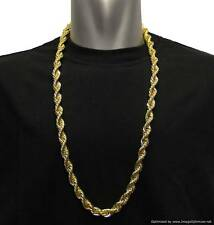 "Gold Plated Run DMC Hip Hop Rope Chain Dookie Chain 10mm x 30"" FILLED RRP £19.99"