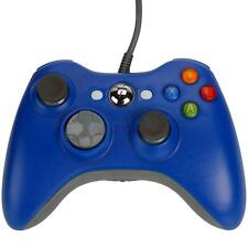 New USB Wired Controller for Microsoft Xbox 360 Game PC Windows 7 Blue