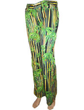 DOLCE GABBANA D&G Womens Tropical Bamboo Print Trousers Pants Jeans W27 12 14