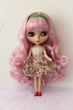 "12"" Takara Neo Blythe Dolls from Factory Nude Dolls Light pink long curls"