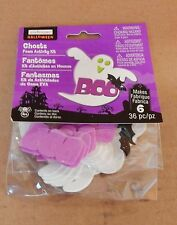 Halloween Foam Stickers Kit 36pc Makes 6ea By Creatology 4+ Ghosts Bats BOO 40T