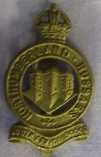 NORTHUMBERLAND HUSSARS - CAP BADGE - MILITARY - ARMY