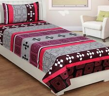 SYK Soft Cotton Single Bed sheet,Bedsheets with 1 Pillow Cover (SYKSB04)