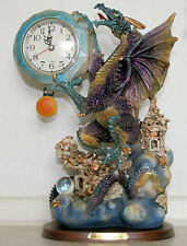 Dragon Wall Clock 32cm High by 18 wide. In good working order