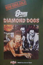 David Bowie poster - Very nice Diamond Dogs 1974 promo Large size repro