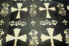 Cross Jacguard Brocade Fabric, high quality renaissance design textile bty