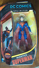 DC COMICS UNLIMITED. INJUSTICE SUPERMAN ACTION FIGURE. 6 INCHES. NOC. VIDEO GAME
