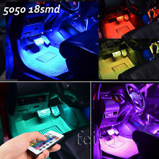 "4Pcs 12"" RGB 7 Color LED Knight Rider Scanner Car atmosphere Light+Remote"