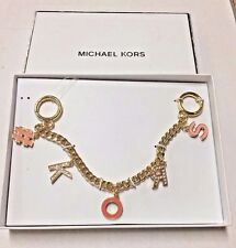 MICHAEL KORS Crystal  #Kors Bag Key Charm Peach 32S6GKCK40 NEW
