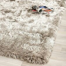Safavieh Handmade Silken Glam Paris Shag Sable Brown Polyester Area Rug (3' x 5'