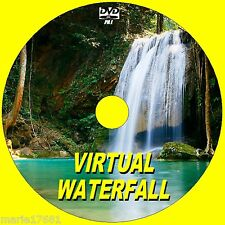 STUNNING VIRTUAL WATERFALL VIDEO DVD GREAT FOR FLATSCREEN, PLASMA, LED TV/PC NEW