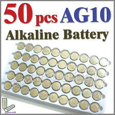 50 pcs AG10 LR54 SR54 SR1130W KA54 189 L1130 Single Use Alkaline Battery Button