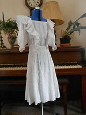 Vintage Antique 1900's Sweet as can be Cotton DRESS 34-24-46