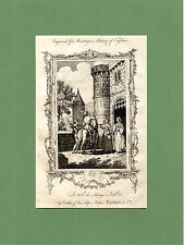SAMUEL WALE-EDWARD THE MARTYR STABBED AT CORFE CASTLE  - RARE COPPERPLATE (1770)