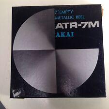 "AKAI ATR-7M 7"" Metal Take-up Reel for 1/4"" Reel to Reel Tape Deck - New in Box"