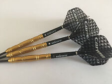 26g GOLD 95% Tungsten Darts Set, Target Carrera Flights & Unicorn Gripper Stems