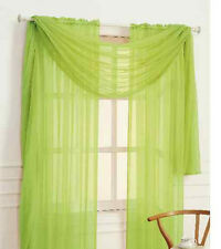 "1 Pcs. Sheer Voile Window Panel curtains DRAPE 63"" ,84"" ,95"" SCARF MANY COLORS"