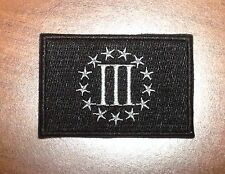 Three Percenter Velcro Backed Morale Patch Black And Gray III%