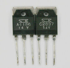 Matched transistors Sanken 2SA1186 + 2SC2837 RetroAudio