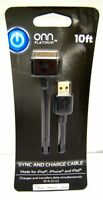 ONN 10 ft (3m) Sync & Charge Cable for for iPad 3 iPad 2 iPhone 4S, 4, 3G  iPod