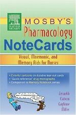 Mosby's Pharmacology Memory NoteCards: Visual, Mnemonic, and Memory Aids for Nur