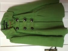 Next UK12 Petite Hooded Double Breasted Jacket Bright Green