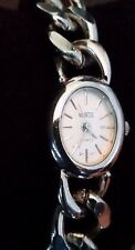 Vintage Quintel Heavy Curb Chain Bracelet Watch - Working!!