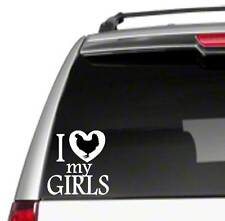 """I Love My Girls hens chickens 6"""" Car Vinyl Sticker Decal farm ranch poultry E39*"""