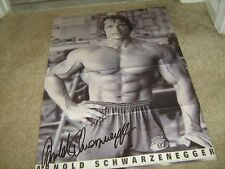 ARNOLD SCHWARZENEGGER muscle bodybuilding fitness PORTRAIT OF AN ICON poster