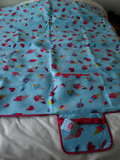 Primark Picnic Mat Plastic Backed 58 x Inch Long 50 x Inch Wide Ice-Cream/Sweets