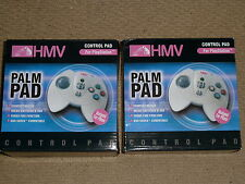 2 x PLAYSTATION 1 PS1 PSOne PALM PAD MINI CONTROLLER Grey Game Control BRAND NEW