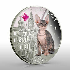 Fiji 2013 Syper Cat  SPHYNX  Dogs & Cats 1 Oz Proof Silver Coin