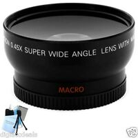 Pro 58mm Wide Angle Lens with Adapter Ring for Canon SX30, SX40, SX50