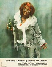 """Publicité Advertising 1972  PERRIER  """" La musique adoucit les moeurs """""""