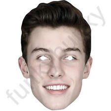 Shawn Mendes Celebrity Singer Card Face Mask - All Our Masks Are Pre-Cut!