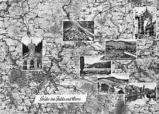 BG31546 grusse von fulda und werra map   germany   CPSM 14.5x10cm