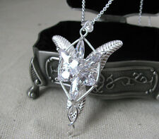 NEW 925 Silver Arwen Evenstar Necklace Pendant LOTR Movie & Jewelry Box