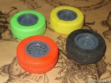 VINTAGE 80s RACING CAR WHEEL SET OF ERASERS MULTI STOCKING FILLER CHRISTMAS