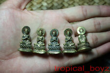 5 Blessing Monk Buddha with Dhammajak Brass Statue Figure Amulet Wholesale