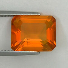 4.30 ct ULTRA RARE FINE QUALITY LUSTROUS MEXICAN FIRE OPAL OCTAGON !