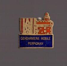 Pin's Police / Gendarmerie mobile de Perpignan (1,5 cm hauteur et longueur)