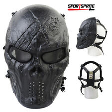 Chief Full Face Mask Paintball Cosplay Mask Black God Metal Mesh Eye Protection