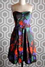 NWT Milly Ava Floral Cocktail Dress 6 $475 Strapless
