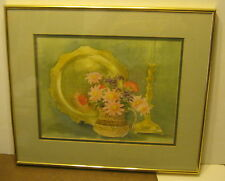 Original Watercolor Still Life SIGNED Ruth Mixon DATED 1980 WSNC Member FRAMED!!