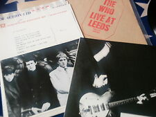 THE WHO - LIVE AT LEEDS - UK FIRST PRESS. - WITH POSTER, CARDS, PHOTO - MINT
