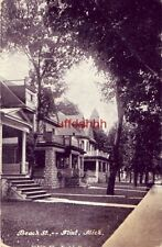 BEACH ST. FLINT, MI 1909 homes with grand front porches